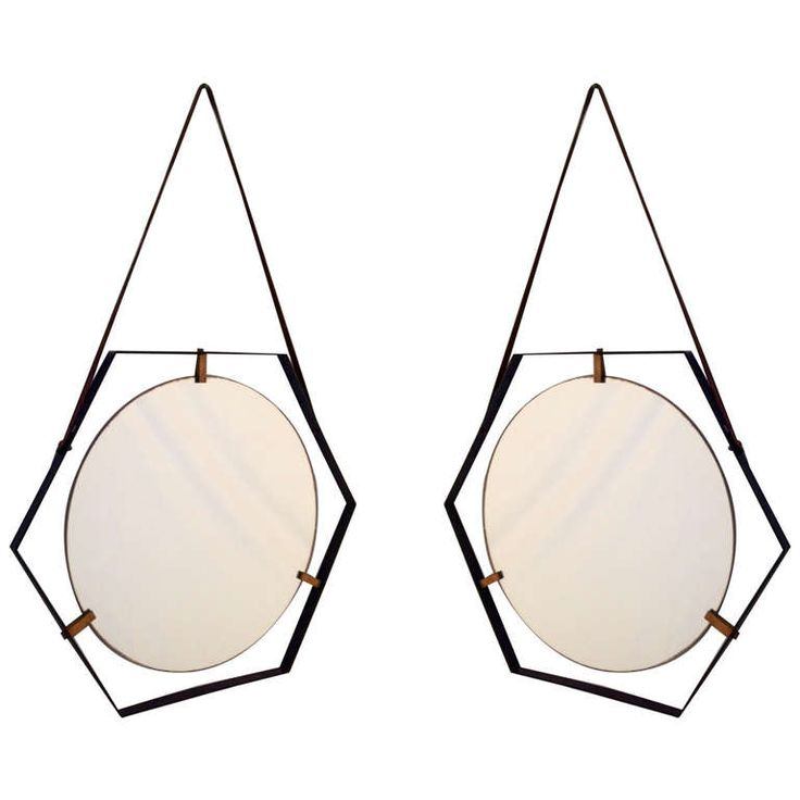 Pair Of Hexagonal 50's Mirrors