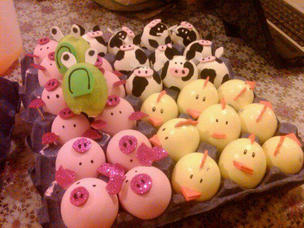 Ideas para decorar cascarones de huevo
