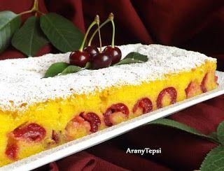 AranyTepsi: Finom meggyes sütemény