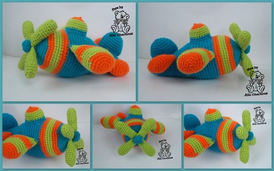helicopter  [Thanks to Belinda Jackson for this one, that she originally pinned to my more generic Crocheted Delights board.]