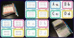 Librito de trazos formato llavero aprender las letras del abecedario en mayúsculas y minúsculas diferentes tipos de letra