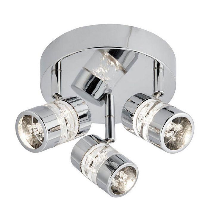 Bubbles Chrome LED 3 Way IP44 Bathroom Spotlight