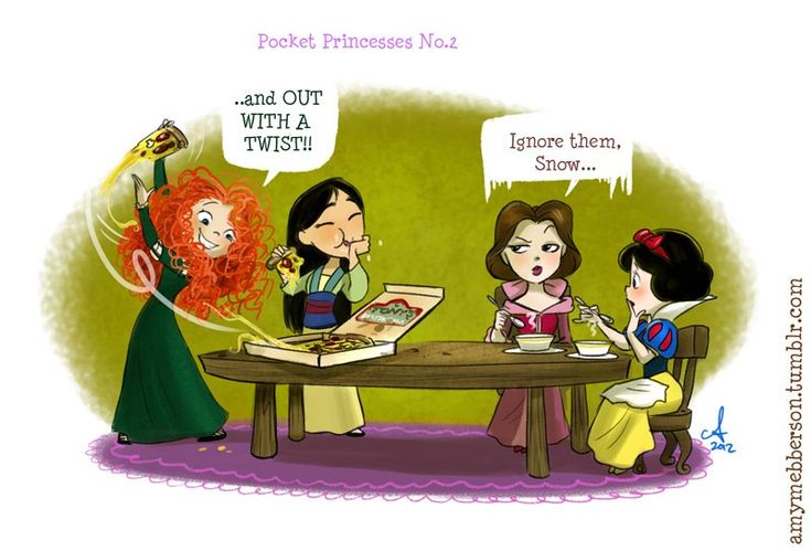 Pocket Princesses by Amy Mebberson # 37 amys so funny i love the pocket princesses