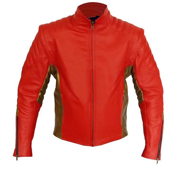 Red Biker Racing Leather Jacket