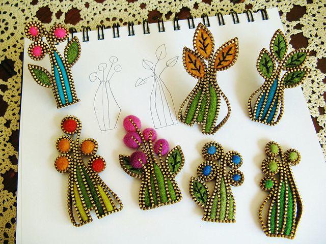felt and zipper...by woolly fabulous