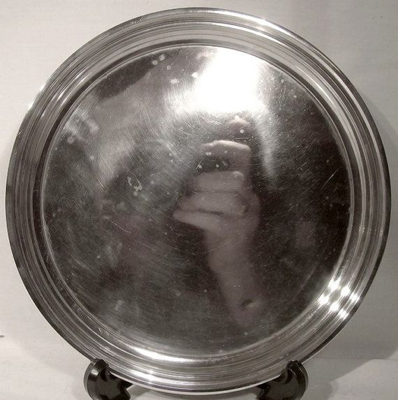 Birks Sterling Silver Footed Round Salver or Serving Tray 1955