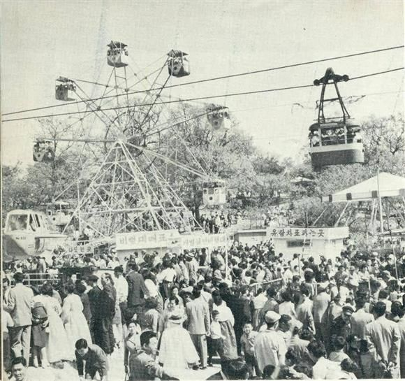 1965 Chang Kyung Won in Seoul, Korea. It used to be a Palace. Japanese made an amusement park in the Palace.