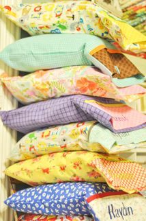 """Travel Pillowcases     I have been having so much fun making travel pillowcases.   All you really need is 14"""" of fabric plus a band.   It..."""