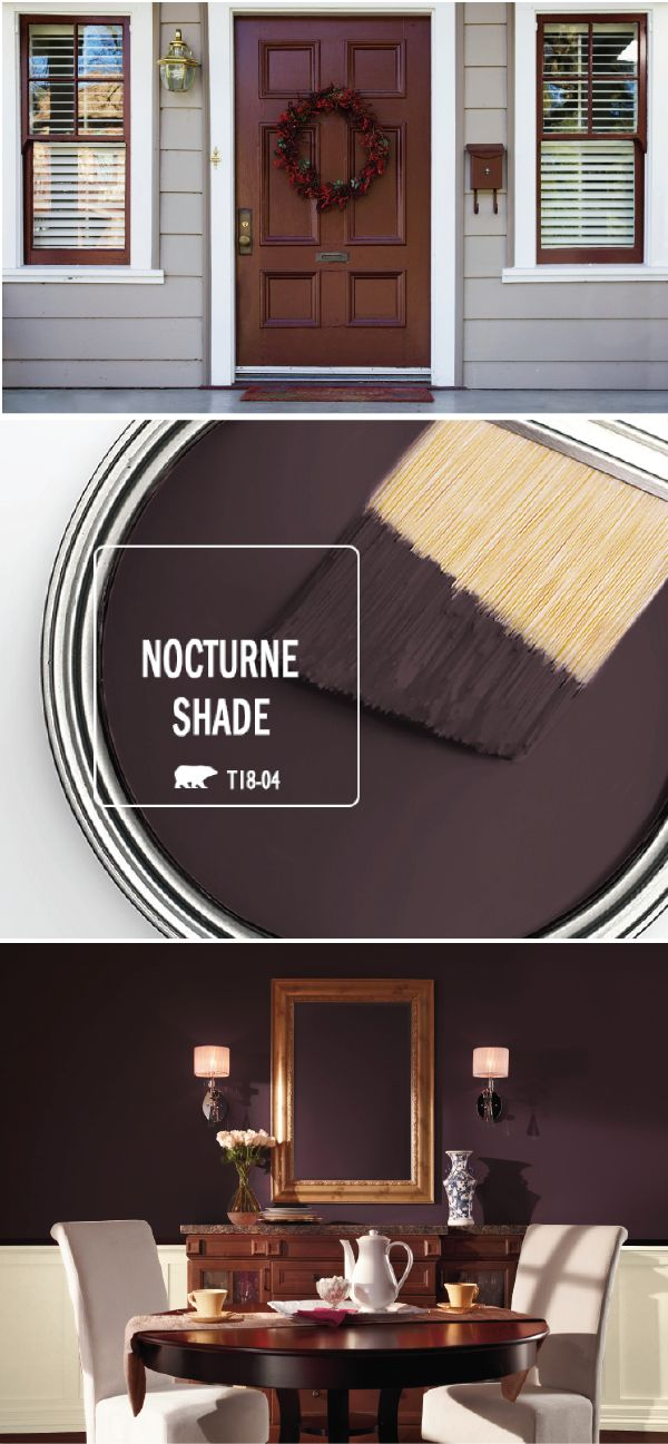 There's nothing like a fresh coat of paint to give your home an easy refresh for the holiday entertaining season. Find inspiration in the BEHR Paint Color of the Month: Nocturne Shade. This dark purple hue lends an elegant, vintage feel to your home when paired with warm wood, bright white, and neutral gray accents. Check out this article to learn more.