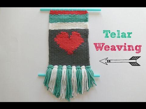 Telar Decorativo y Crochet Paso a Paso + Funda Agenda / Libro. Weaving Tutorial DIY. Lana Wolle - YouTube
