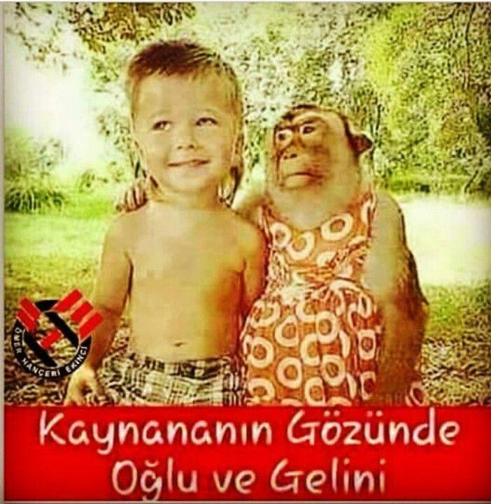 Kaynananın gözünde oğlu ve gelini.  #mizah #matrak #espri #komik #şaka #gırgır #sözler #güzelsözler #komiksözler #caps