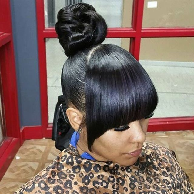 33 Best Buns Bangs Ponytails Amp Updos Images On