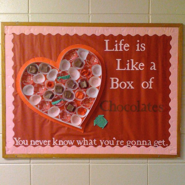 Valentine's Day Bulletin Board. I would put  students' work inside, something small like a couplet