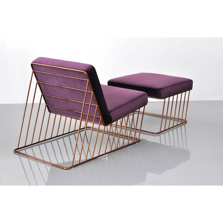 wired italic lounge chair and ottoman at phase design