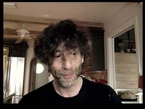 """Grab a blanket, some cocoa, and watch Gaiman reading Green Eggs and Ham . 