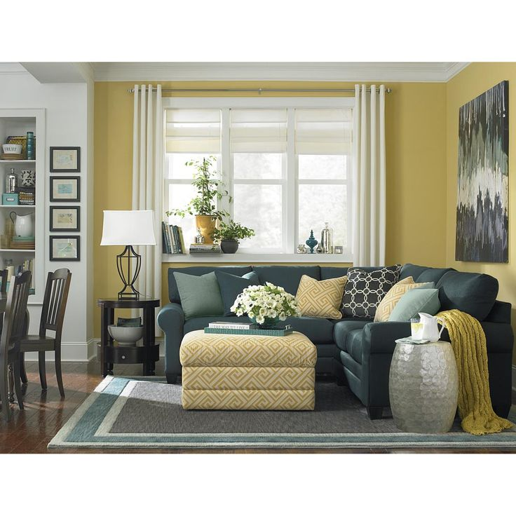 L-Shaped Sectional by Bassett Furniture - rich vibrant colors and modern fabrics create an updated look for Spring.  sc 1 st  Pinterest : bassett cu2 sectional - Sectionals, Sofas & Couches