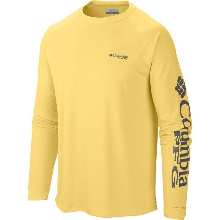 Columbia Men's PFG Terminal Tackle Long Sleeve Shirt, Size: XXL, Sunlit/Grill Logo