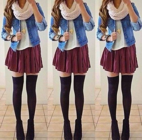 Knee high socks outfits pinterest