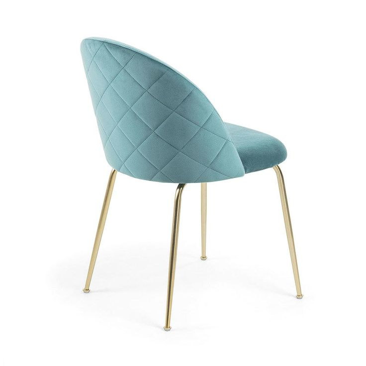 Gianni dining chair gold legs with teal velvet in 2020