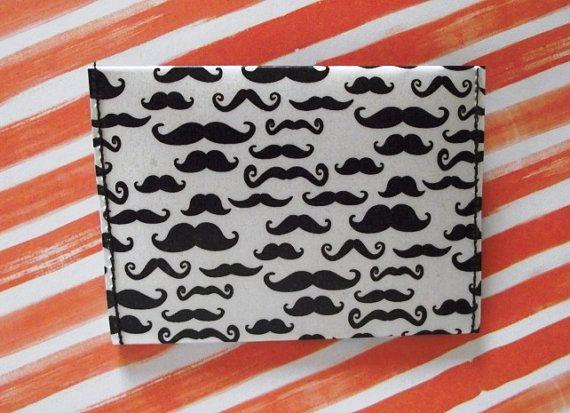 Mustache wallet / card holder: Cards Design, Card Designs, Cards Holders, Card Holders