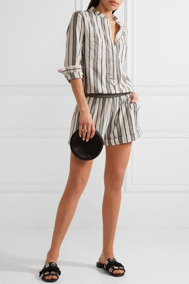 Vanessa Bruno - Geza Cotton-jacquard Playsuit - Beige - FR