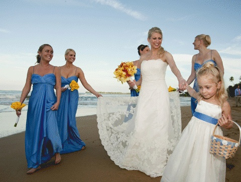 Blue Hawaii Wedding Dress