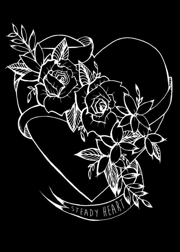 Tattooed Heart by Kingdom at Heart available on Displate.  #metalprint #artprint #tattoo