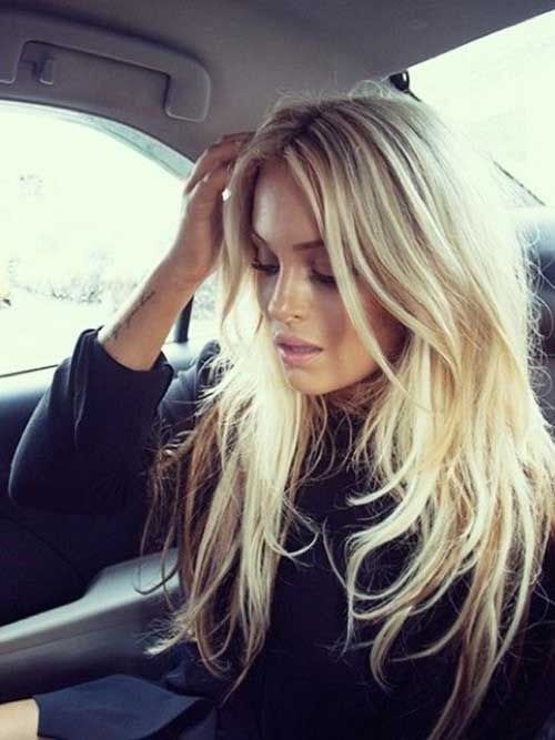 Long Blonde Layered Hair for Girls