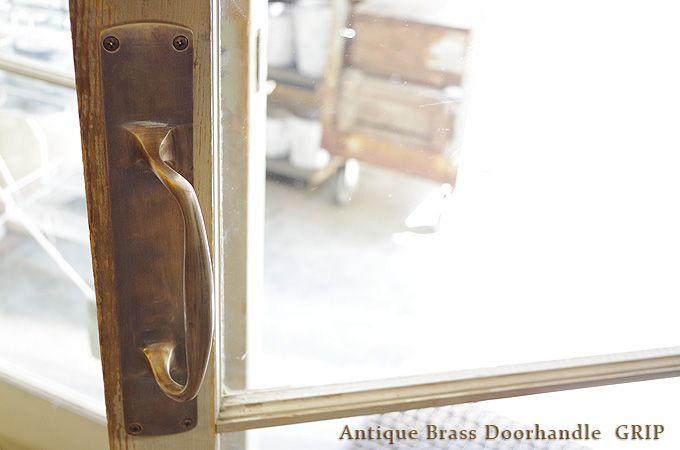 楽天市場 真鍮 ドア ハンドル 取っ手 ブラス アンティーク調