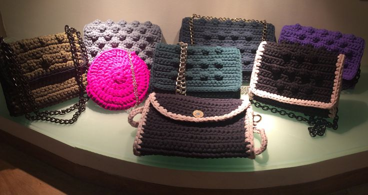 Handmade bubble crochet bags
