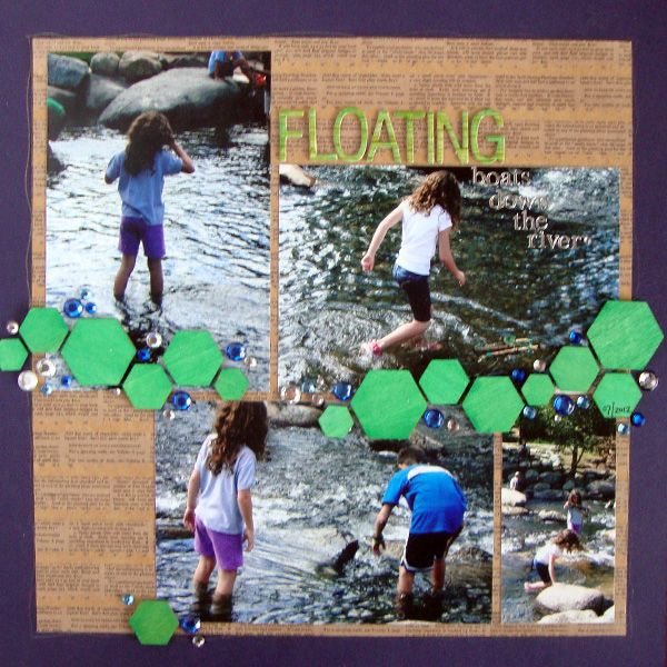 Ideas for Emerald Green on Scrapbook Pages   Harmony and Elegance   Michelle Houghton   Get It Scrapped