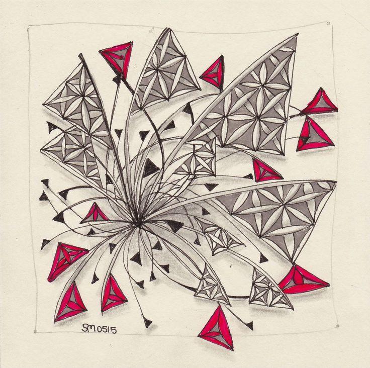 Tangles: Xplode, Fife. Zentangle drawn by Simone from simtangle.blogspot.de