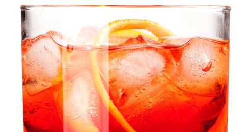Aperol Spritz in glass with ice