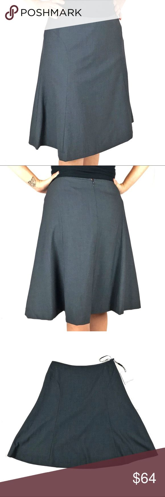 """Calvin Klein Suiting Skirt Brand new Trumpet A-line shape Suit separate 14-1/2"""" across waist 22"""" long Shell: 63% polyester, 33% rayon, 4% spandex Lining: 100% polyester Calvin Klein Skirts A-Line or Full"""