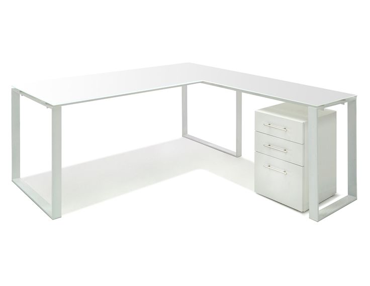 Aspen Desk Collection With Gl Top 64 W X D Pure