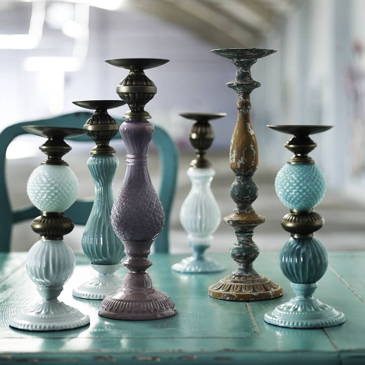 Nordal Ornate Candlestick by Idea Home Co - Not on the Highstreet