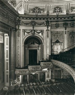 The interior of the Pantages Theatre, 20 W. Hastings St., in 1917. Vancouver Public Library VPL 21362
