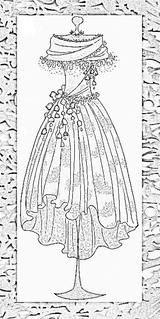 91 best Clothing Dress Coloring For Adults Art Pages ...