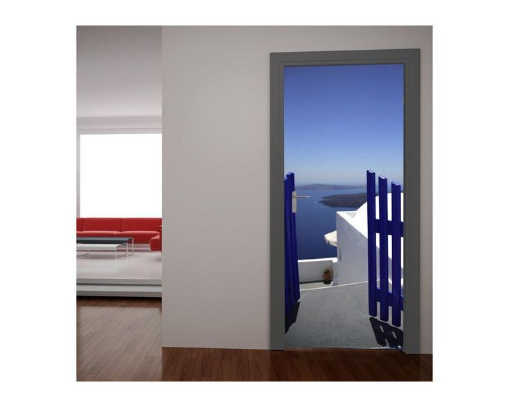 Πόρτα στο απέραντο γαλάζιο, αυτοκόλλητο πόρτας , δείτε το!