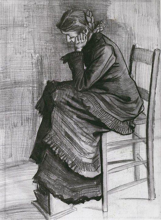 Vincent Van Gogh - there's always such a distinct measure of empathy in his work. http://1.bp.blogspot.com/-4UqgcAV3Ibk/TvC4xFnv_gI/AAAAAAAA0lA/KOONKPNGsw0/s1600/Van+Gogh+drawing+-+Tutt%2527Art%2540+%252814%2529.jpg