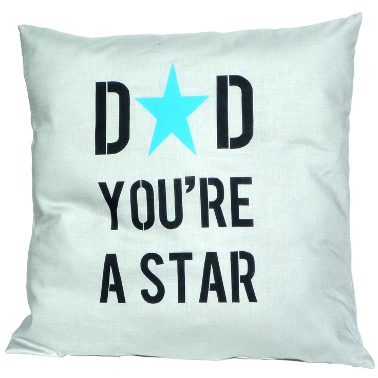 Father's Day Cushion - Dad you're a star - Handmade Cushion Cover - hardtofind.