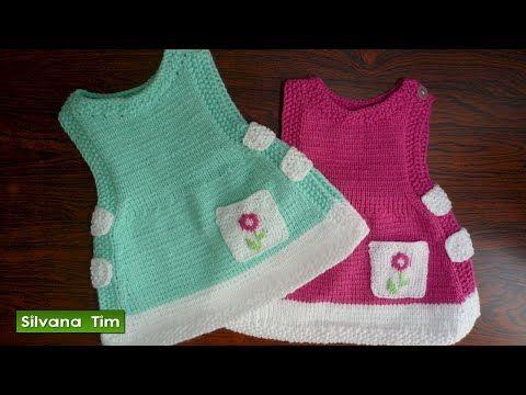 ABRIGO o SAQUITO (CHAQUETA) para bebés de (0 meses a 2 años). Tejido con dos agujas # 356 - YouTube