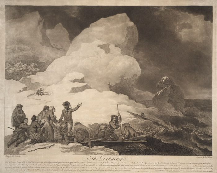 The Departure of S.W. Prentice and Five Others from their Shipwrecked Companions, 1781 (Cape Breton Island, Nova Scotia) : Toronto Public Library Special Collections
