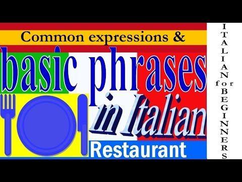 Aprender Italiano | Frases Italianas para pedir en un Restaurante italia...