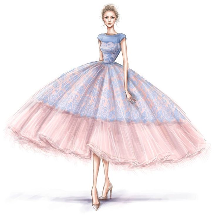 Fashion illustrator @shamekhbluwi crafted this regal painting in honor of Pantone #ColoroftheYear 2016 #RoseQuartz & #Serenity #Color