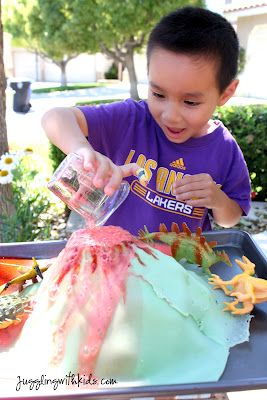 How to make a realistic looking volcano for kids to play with. Awesome!
