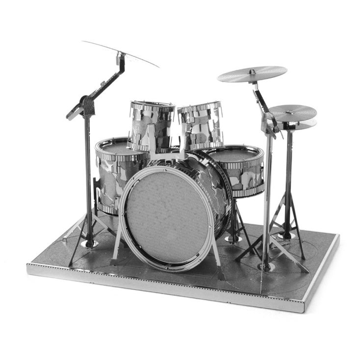 Drum Set 3D Metal Puzzles DIY DIY Assembly Musical Instruments Toys Puzzle For Children Adult DIY Model Creative Gift