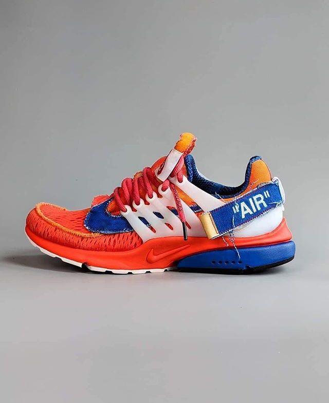 separation shoes 630e1 4be75 Custom DBZ Goku  nike and  off  white Nike Air Presto White, Nike Presto,