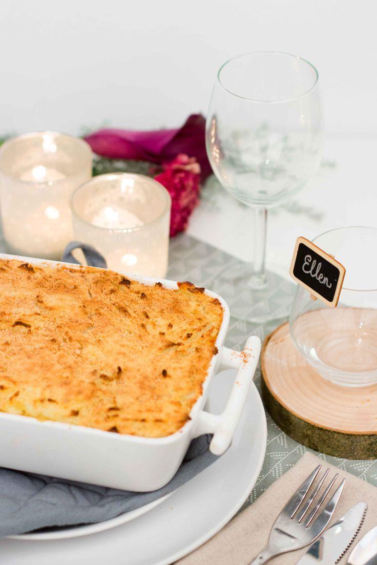 Glutenvrije ovenschotel met kip & aardappel puree  - snel, gemakkelijk & gezond / Kokerellen