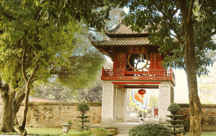 The Khue van Cac  Pavillion inside the temple of literature #Hanoi